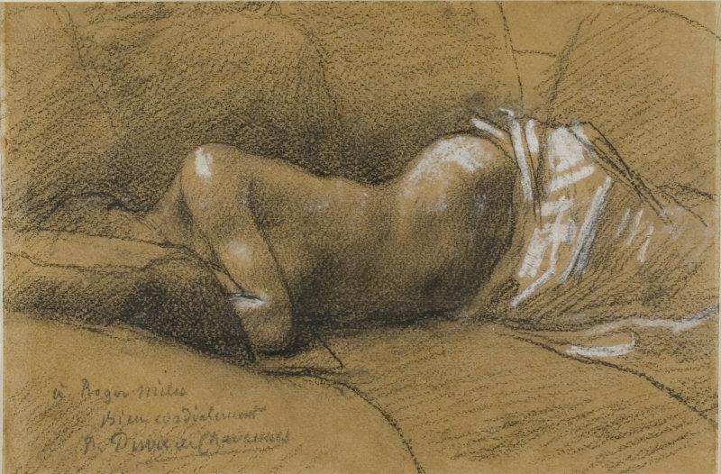 פובי דה שוואן, אטיוד של אישה ישנה, 1867