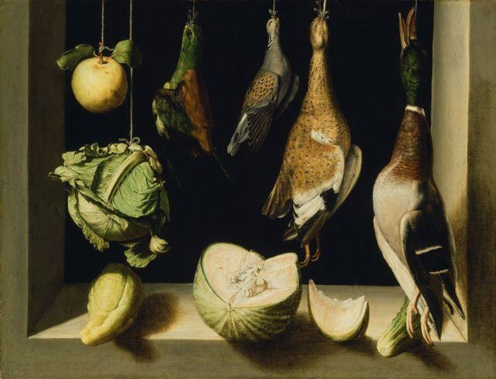 טבע דומם עם עופות ציד, 1600-03, המכון לאמנות, שיקגו