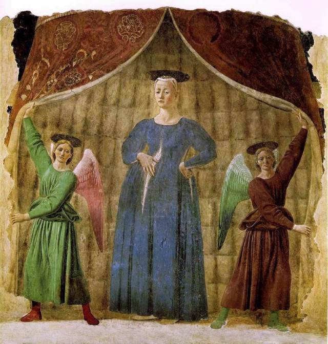 פיירו דלה פרנצ'סקה, מדונה דל פרטו, אחרי 1457, פרסקו
