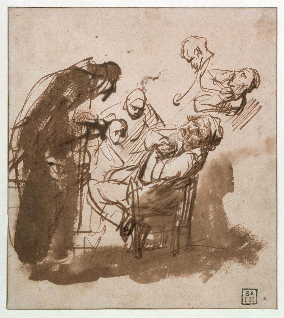 רמברנדט, יעקב מתאבל למראה כתונת הפסים הספוגה דם, 1635-7, קופפרשטישקבינט, ברלין