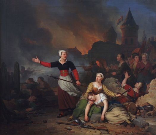 Ferdinand_de_Braekeleer_(1792-1883),_Kenau_Simonsdr._Hasselaar_tijdens_het_belg_van_Haarlem,_1829,_Olievrf_op_doek