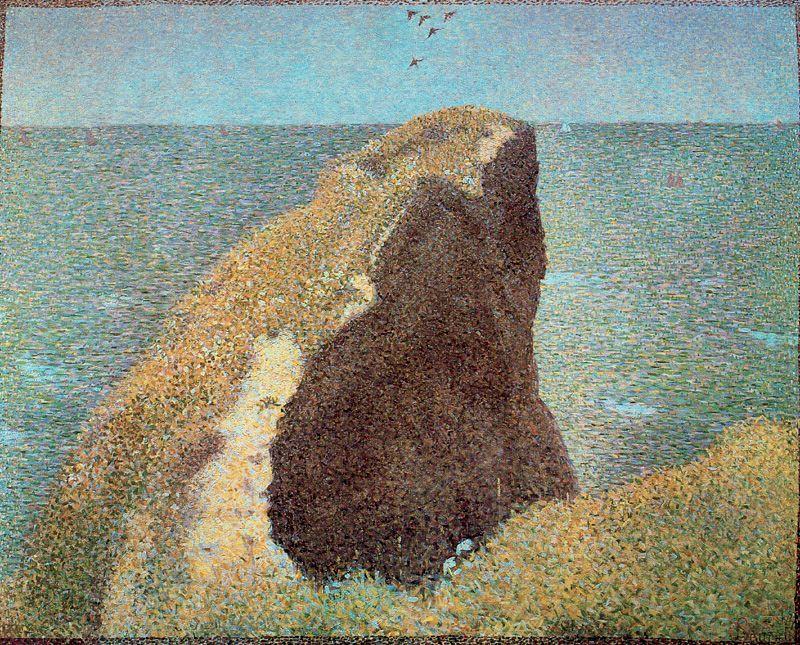 ז'ורז' סרא, Le Bec du Hoc, Grandcamp, 1885, גלריה טייט, לודון